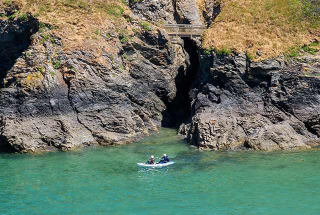 sea kayak hire at port gaverne, cornwall