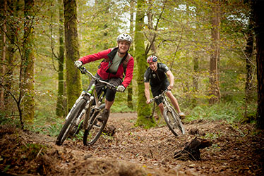 riding the cycle trails at lanhydrock