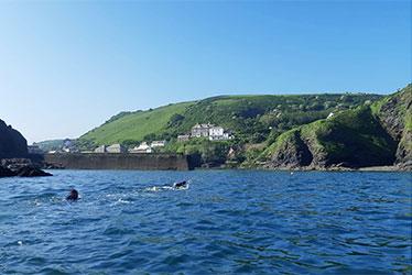 sea swimming to port isaac, cornwall