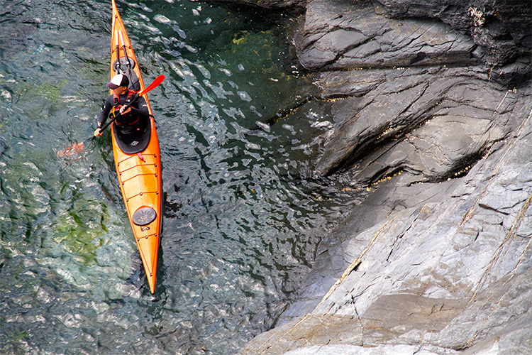 cornish rock tors sea kayaking guide hugo brown