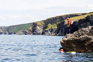 coasteering guides exploring the north coast of cornwall