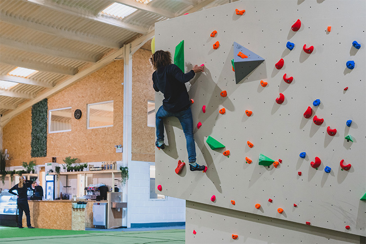 climbing wall and cafe in north cornwall