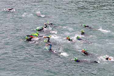 open water swimming event