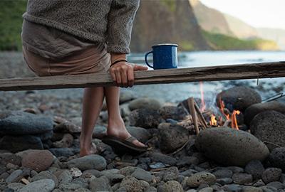 jeff johnson photo of campfire on the coast of hawaii
