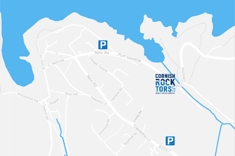 map of car parks in port isaac and port gaverne